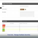 BackEnd - Manage Feedback Severities