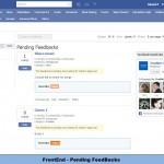 FrontEnd - Pending FeedBacks