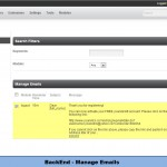 BackEnd - Manage Emails