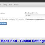 Back End - Global Settings