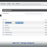 Back End - Manage Categories