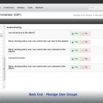 Back End - Manage User Groups
