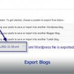 Export Blogs