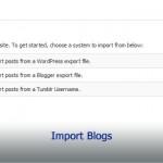 Import Blogs