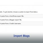Import Blogs