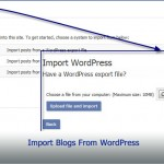 Import Blogs From WordPress