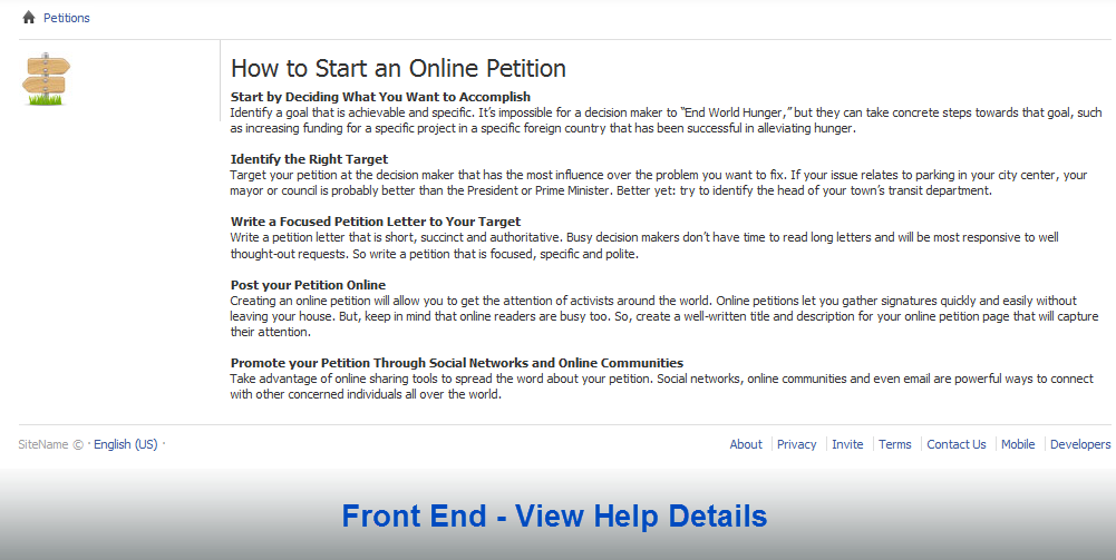 how to word a petition