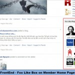 FrontEnd - Fox Like Box on Member Home Page