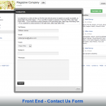 Front End - Contact Us Form