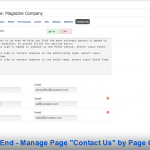 Front End - Manage Page Contact Us by Page Owner