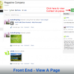 Front End - View A Page