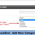 BackEnd - Add New Category