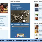 FrontEnd - Embed the campaign to an external website