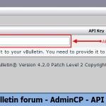 vBulletin forum - AdminCP - API Key