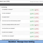 BackEnd - Manage User Setting
