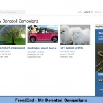 FrontEnd - My Donated Campaigns