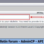 vBulletin forum - AdminCP - API Key