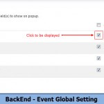 BackEnd - Event Global Setting