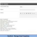BackEnd - Manage Email Templates