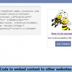 Code to embed contest to other websites