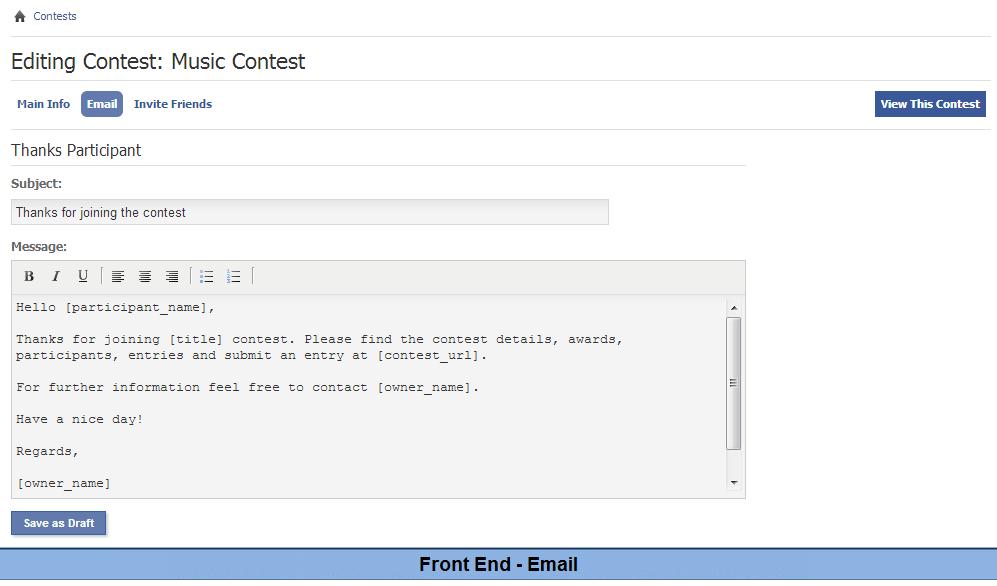 Contest, module, plugin custom design for phpFox - YouNet ...