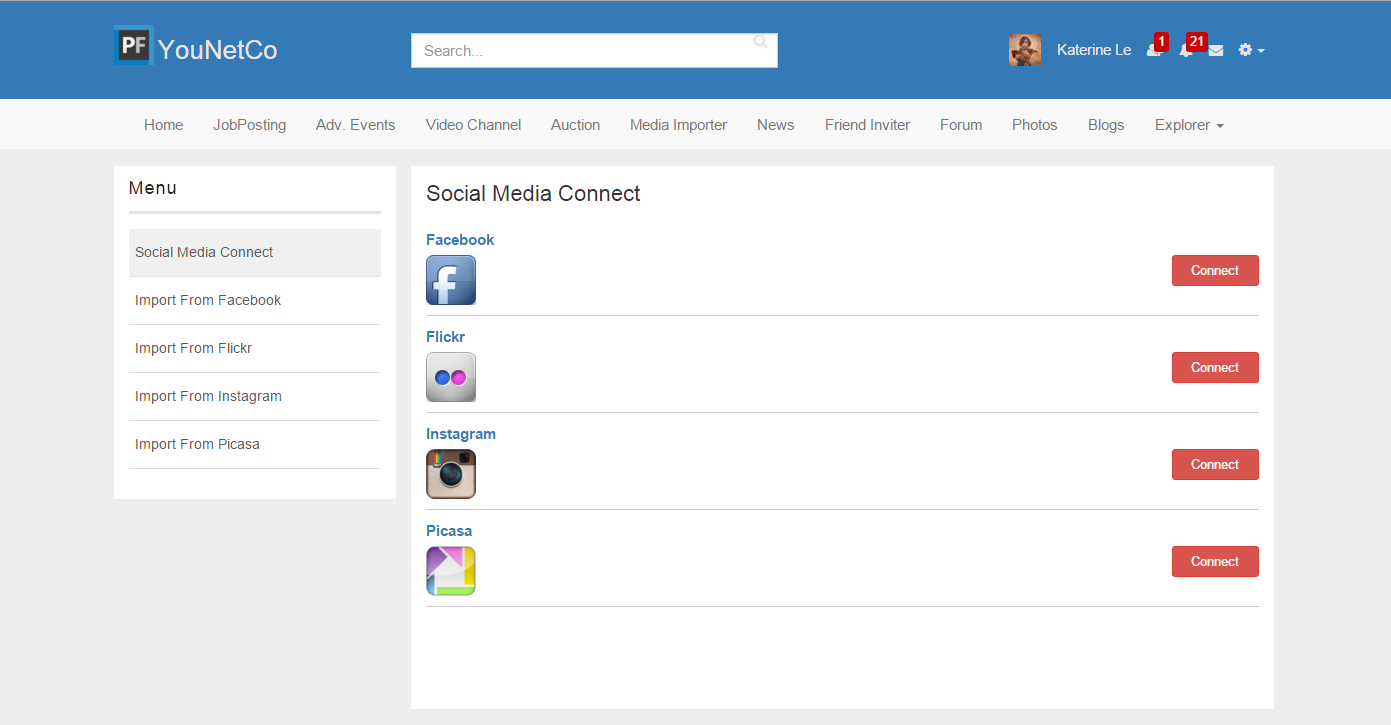 V4] - Social Media Importer - YouNetCo - phpFox Apps, Themes