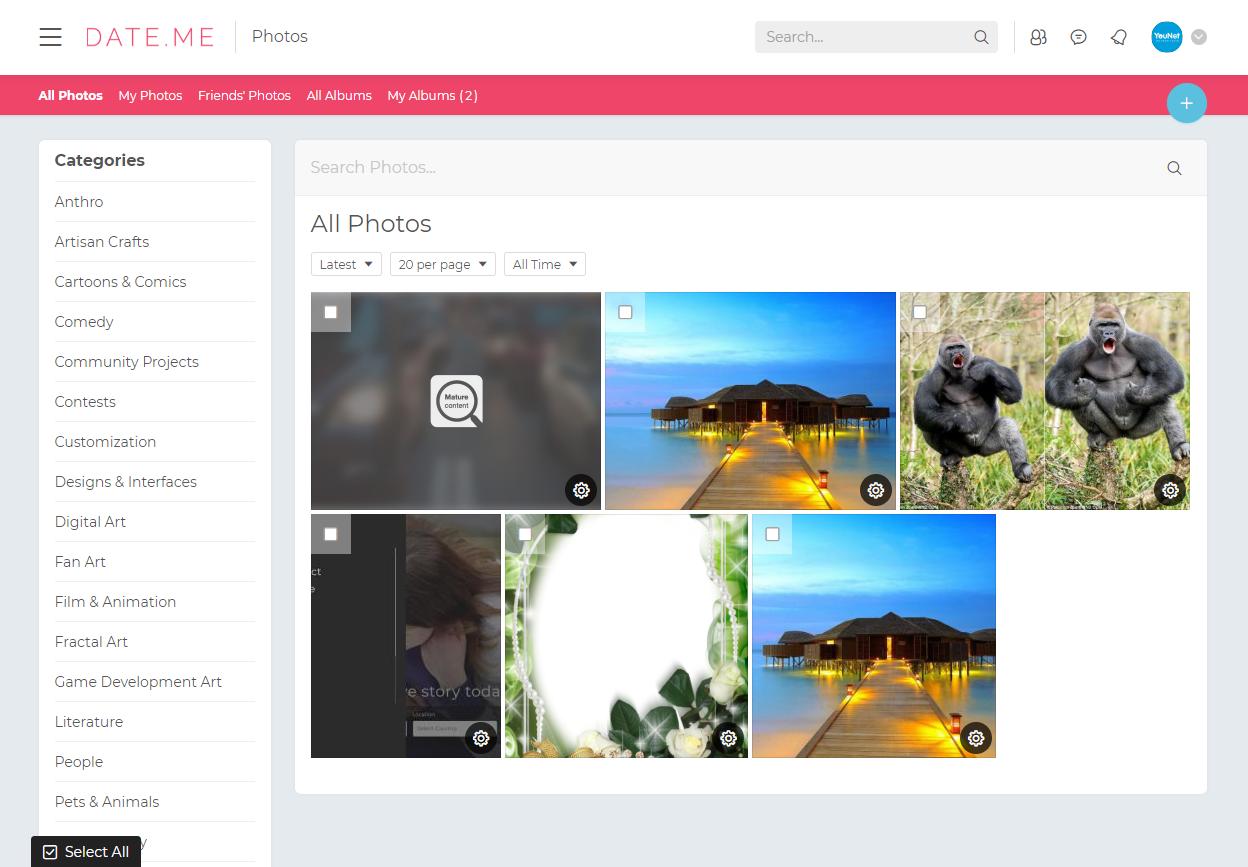 PHPFox dating mallar profil foton för dejtingsajter