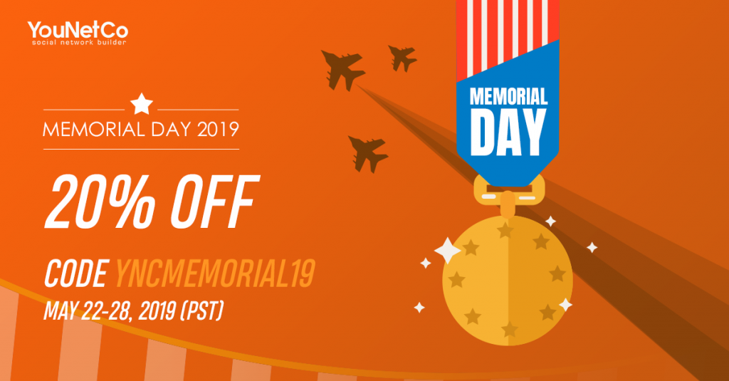 Special Sale On Memorial Day 2019 Younetco Phpfox Apps